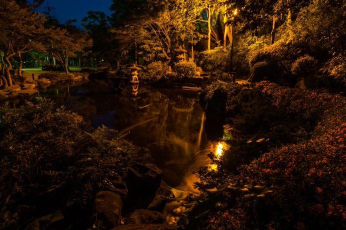 長崎公園の池(日本最古の噴水[復元])