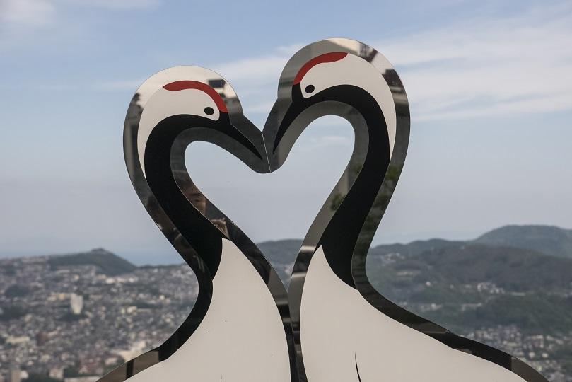 稲佐山山頂展望台のハートのモニュメント
