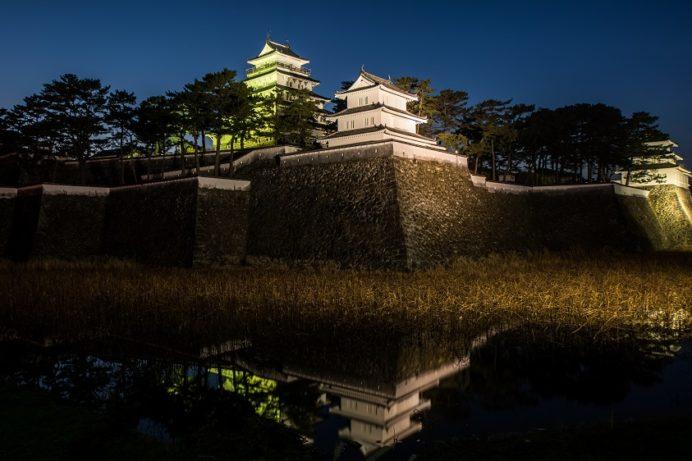 島原城のライトアップ