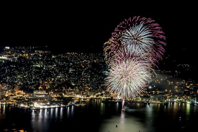 稲佐山展望台からの花火