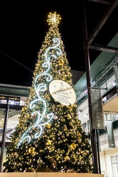 きらきらフェスティバル・佐世保・えきマチ1丁目のクリスマスツリー