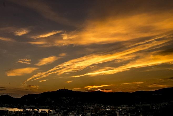 風頭公園(伊良林町)からの夕日