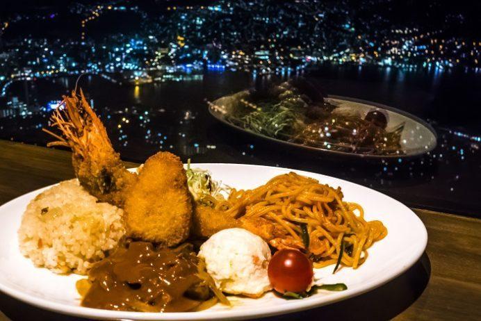 ひかりのレストラン(稲佐山山頂展望台)・長崎和牛ビーフストロガノフトルコライス