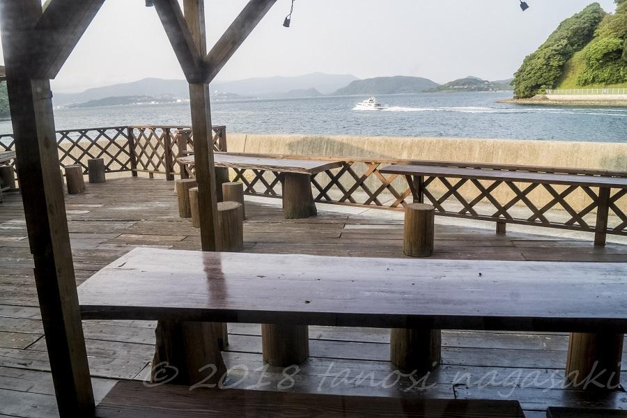 海の駅 船番所(長崎県西海市)のテラス