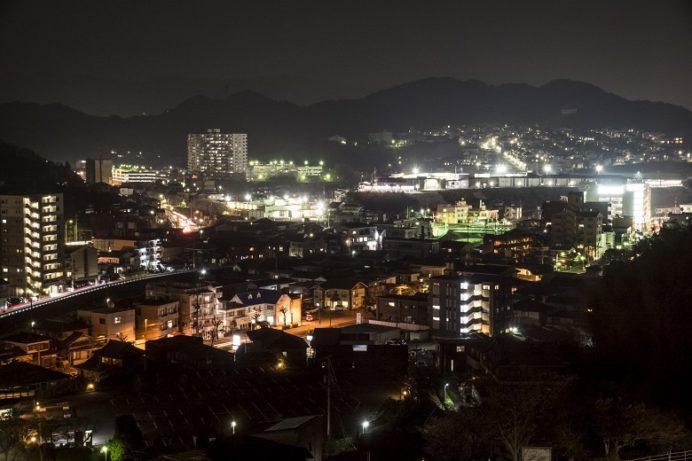 中尾城公園展望台の夜景(長与町丸田郷中尾)