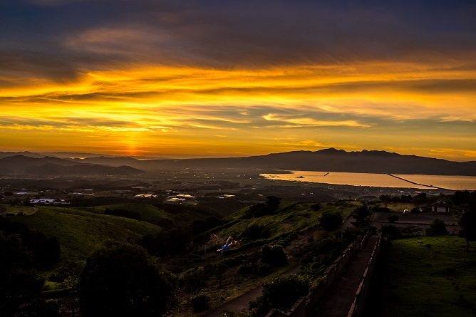 牧場の里あづま(長崎県雲仙市吾妻)の夕景