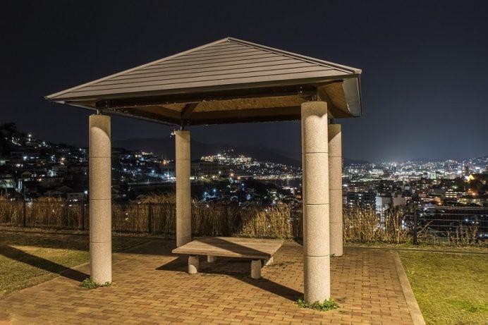 夜の出雲近隣公園(長崎市)