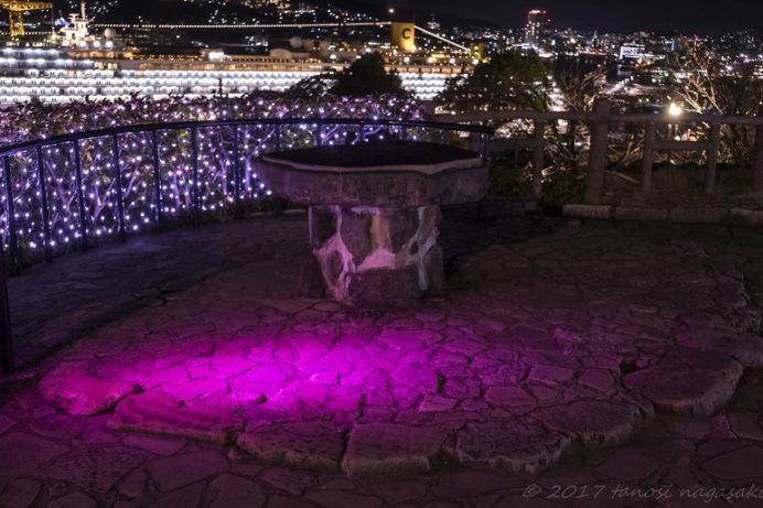 グラバー園、旧グラバー住宅庭園からの長崎の夜景
