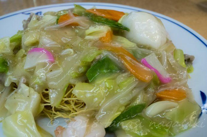 龍園の特製皿うどん(細麺)