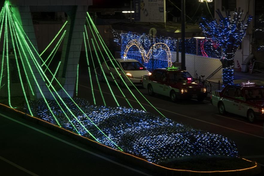 いさはや灯りファンタジアのイルミネーション(JR諫早駅前ロータリー周辺)