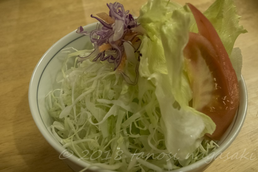 和風レストラン 望月(五島市福江町)の特選五島牛ロースステーキセットのサラダ