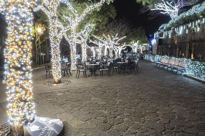 グラバー園のライトアップ(夜間開園)、三浦環前