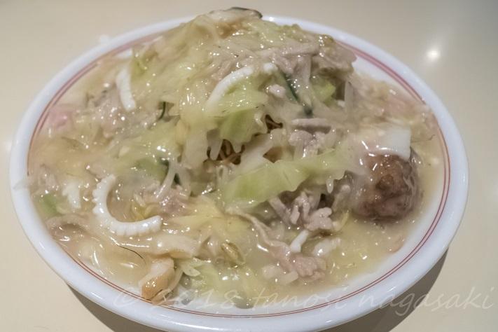 江山楼の上皿うどん(細麺)