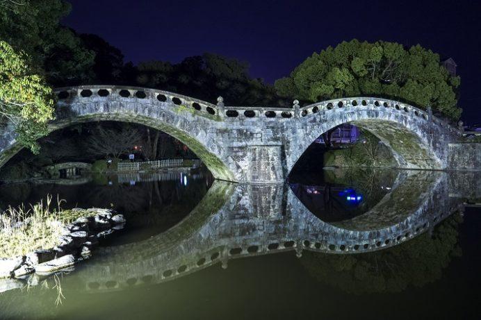 諫早眼鏡橋のライトアップ(長崎県高城町)