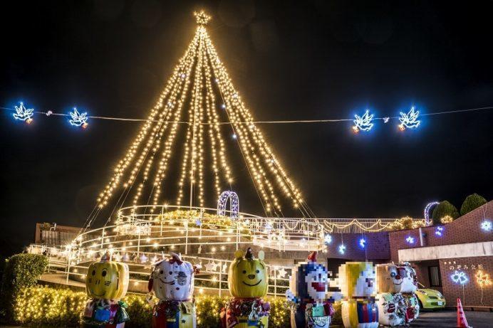 多良見のぞみ会館 光のフェスティバルのイルミネーション (諫早市多良見町木床)