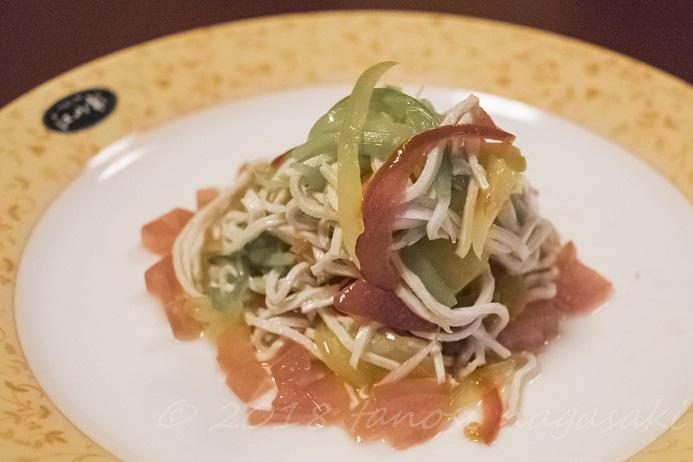 江山楼の5000円コースの前菜