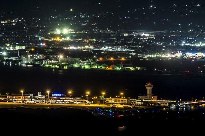 琴ノ尾公園からの夜景(長崎県諫早市多良見町)
