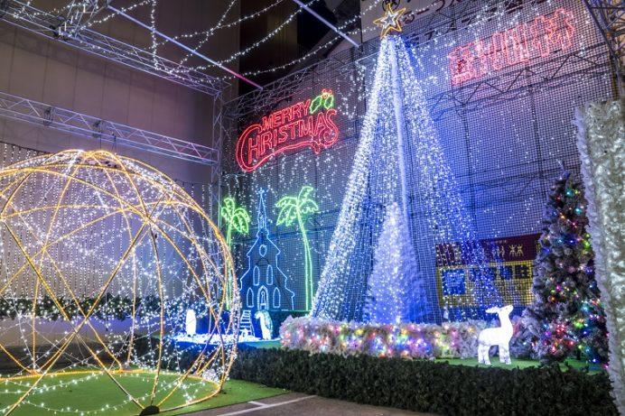 蘇州林のクリスマスイルミネーション(長崎新地中華街)
