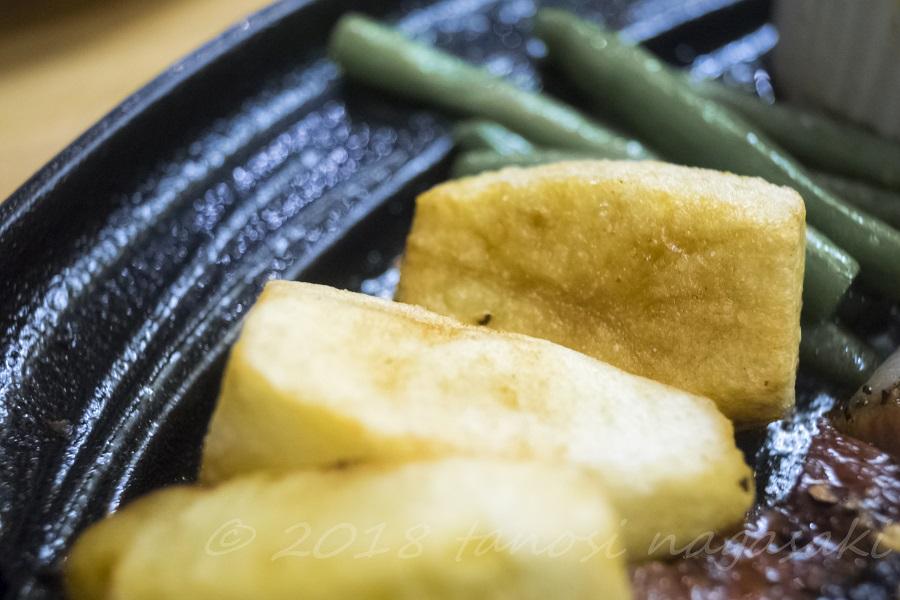 和風レストラン 望月(五島市福江町)の特選五島牛ロースステーキセットの付け合わせ
