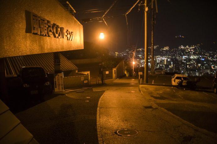 ヘイフリ坂山頂前の夜景(長崎市風頭町)までの行き方。さくらパーキング横