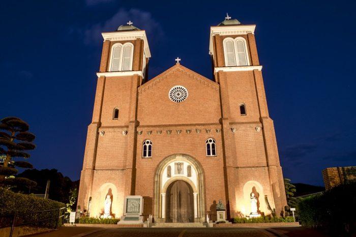 「浦上天主堂のライトアップ」~原爆から復活をとげた大聖堂