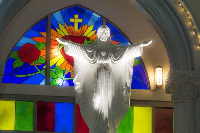 三浦町教会のクリスマスイルミネーション(長崎県佐世保市三浦町)