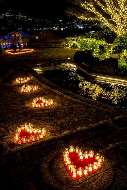 グラバー園の夜間開園(ハートキャンドルイベント)