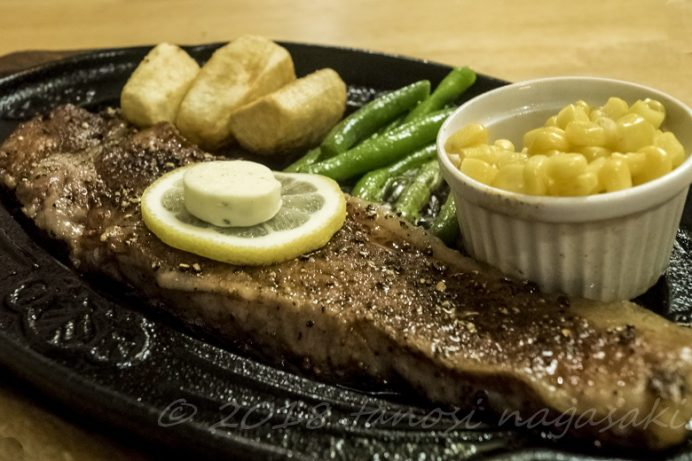 和風レストラン 望月(五島市福江町)の特選五島牛ロースステーキセット
