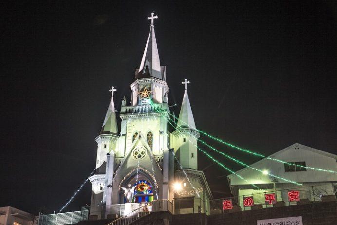 三浦町教会のクリスマスイルミネーション(佐世保市)