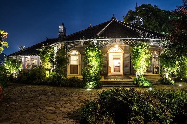 旧グラバー住宅(長崎市グラバー園)のライトアップ