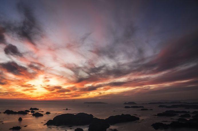 佐世保石岳展望台からの夕景