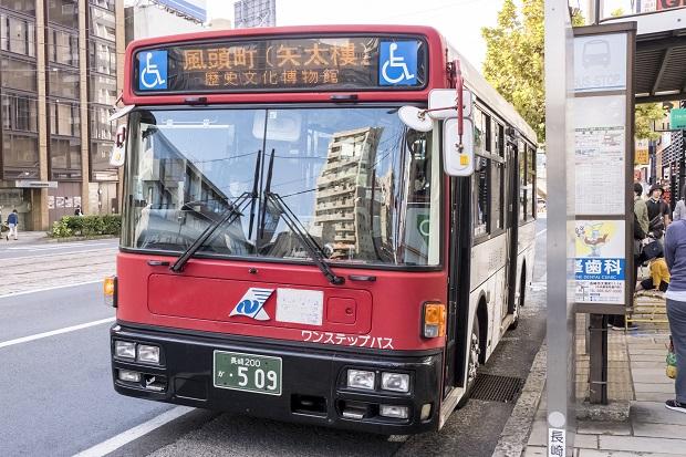 長崎バス「風頭公園行き」路線バス