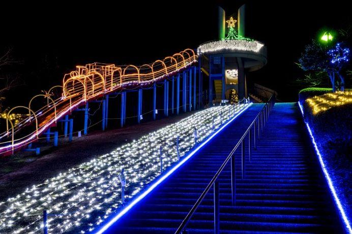 光のフェスタ (平戸市県立田平公園のイルミネーション)、ロングスライダー