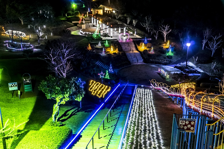 田平公園イルミネーション「光のフェスタ2021」【期間・駐車場は?】~子供が大はしゃぎ!