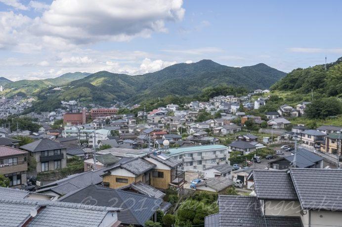おきみ茶房(長崎市伊良林 風頭公園内)からの風景