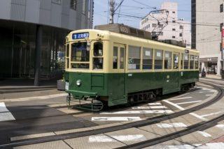 路面電車「長崎駅前 電停」経由で、「新地中華街 電停」で乗り継ぎ。その際の【のりつぎ券の請求方法】~石橋行き編