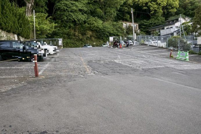 長崎ロープウェイの駐車場