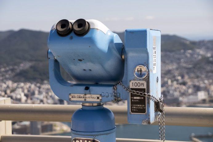 稲佐山展望台の望遠鏡