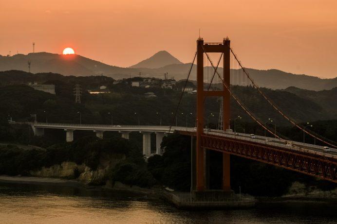平戸大橋の夕陽