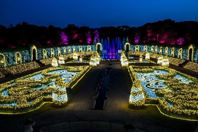 光のオーケストラ ジュエルイルミネーションショー(パレスハウステンボス)、ハウステンボスのイルミネーション、光の王国