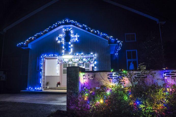 木ヶ津教会 (平戸市)のクリスマスイルミネーション