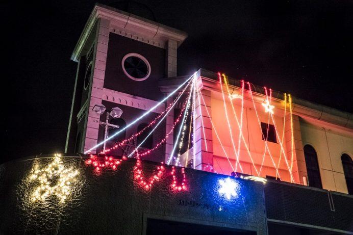 青方教会(長崎県上五島町)のクリスマスイルミネーション