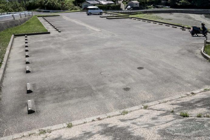 岳路(たけろ)海水浴場(長崎市野母崎地区)の駐車場