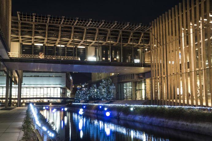 水辺の森公園・長崎県美術館(長崎市)のイルミネーション