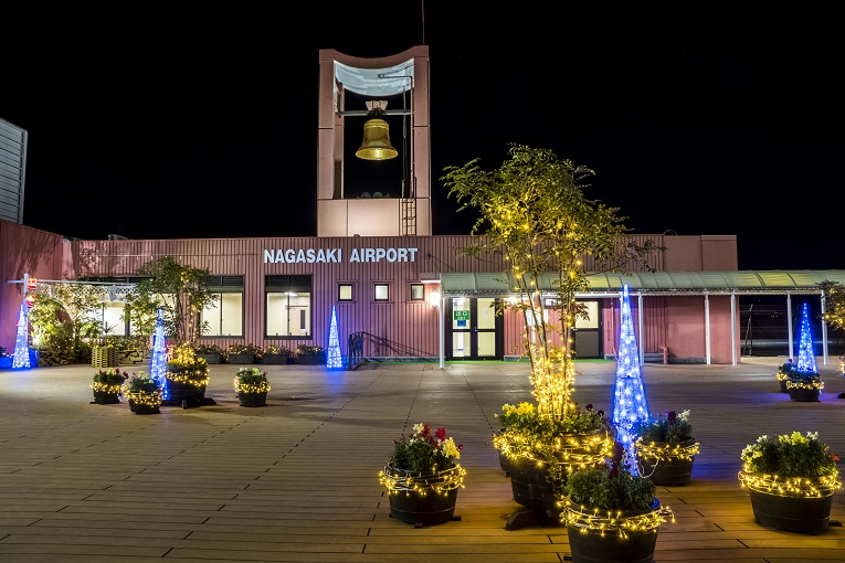 長崎空港(大村市箕島町)の夜景