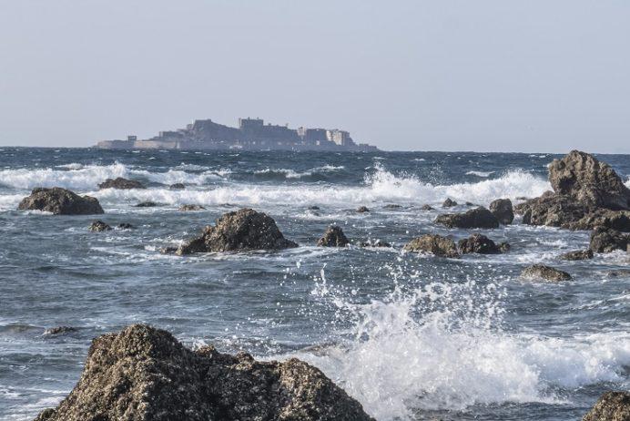 田の子島(長崎市野母崎地区)からの軍艦島