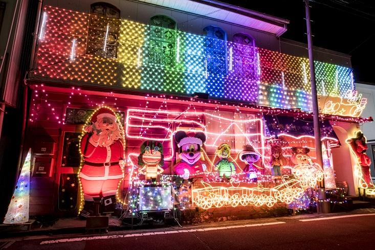 キク美容室 クリスマスイルミネーション(長崎県上五島町)