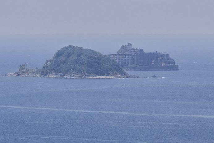 香焼総合公園(長崎市)からの軍艦島