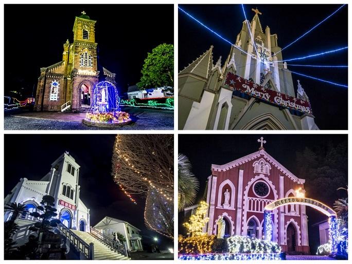 平戸のある教会群のクリスマスイルミネーション