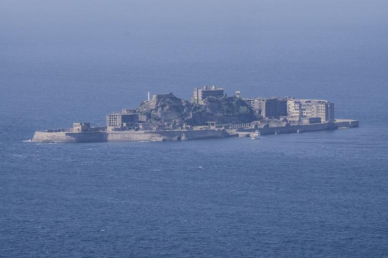 権現山展望公園(長崎市野母崎地区)からの軍艦島